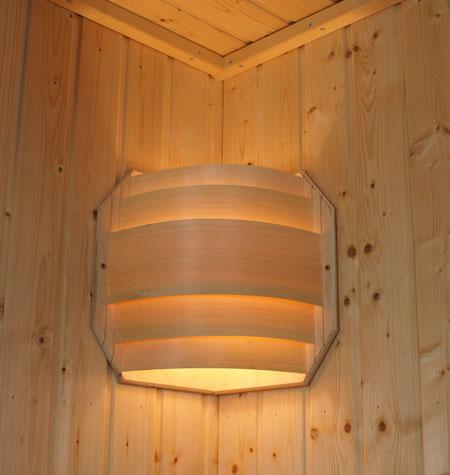 gro er sauna eck lampenschirm saunaleuchte. Black Bedroom Furniture Sets. Home Design Ideas