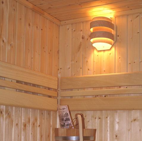 kleiner sauna lampenschirm wand saunaleuchte 81740. Black Bedroom Furniture Sets. Home Design Ideas