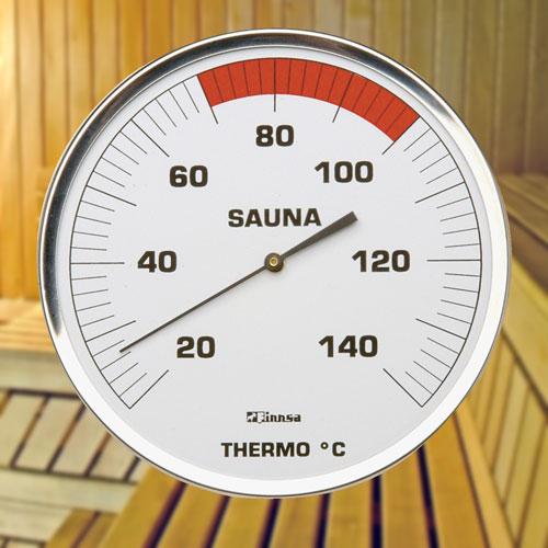 sauna thermometer edelstahlgeh use smr130 f 82350. Black Bedroom Furniture Sets. Home Design Ideas