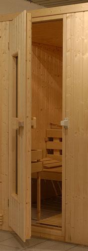 saunat r fichte saunaholzt r fichte mit isolierglasfenster. Black Bedroom Furniture Sets. Home Design Ideas