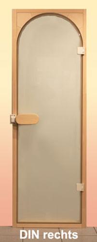 sauna rundbogent r saunaganzglast r bronziert einbaurahmen. Black Bedroom Furniture Sets. Home Design Ideas