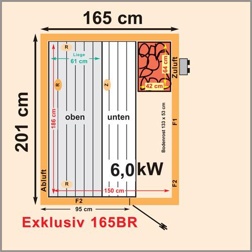 saunakabinen serie bei der eine seite 165 cm ist und die andere seite 200 cm. Black Bedroom Furniture Sets. Home Design Ideas