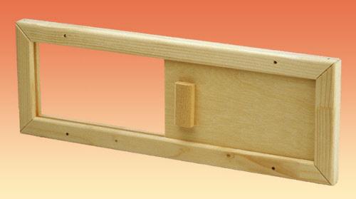 sauna abluftschieber l ftungsschieber holz 83840. Black Bedroom Furniture Sets. Home Design Ideas